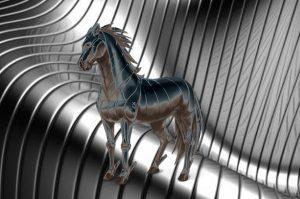 element metaal paard